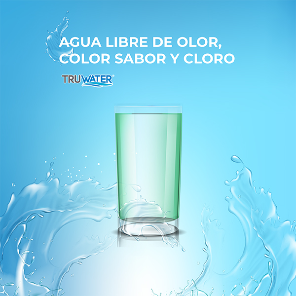 Agua sin olor color cloro Truwater Home Depot México