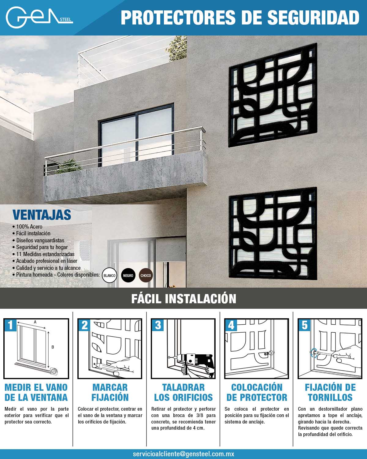 Protectores para Ventana Quadrum The Home Depot Mexico