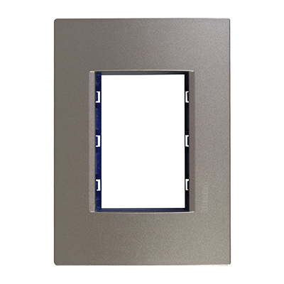 PLACA RECTANGULAR DE 3 MÓDULOS METAL GRIS AVENUE | The Home Depot México