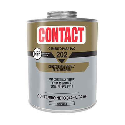 CEMENTO CONTACT PARA PVC TRANSPARENTE DE 947 ML | The Home Depot México