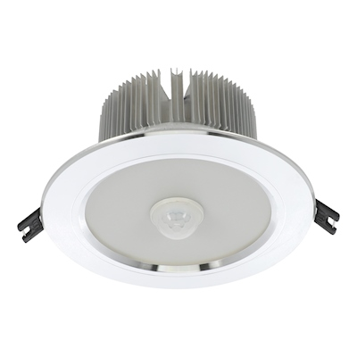 EMPOTRABLE SENSOR LED 9 WATTS 14.7 CM PLATA | The Home Depot México