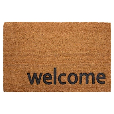 TAPETE COCO MIX WELCOME 40 X 60 CM CAFÉ | The Home Depot México
