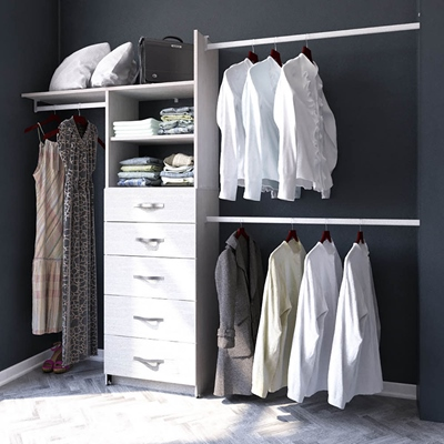 CLOSET PLAYCON SUPREMO 5 CAJONES BLANCO TEXTURIZAD | The Home Depot México