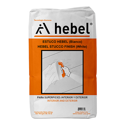 ESTUCO HEBEL COLOR BLANCO 40KG | The Home Depot México